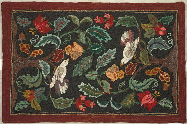 Rug Hooking Pattern Only Welcome Joan Moshimer Pattern on linen 18 x 30