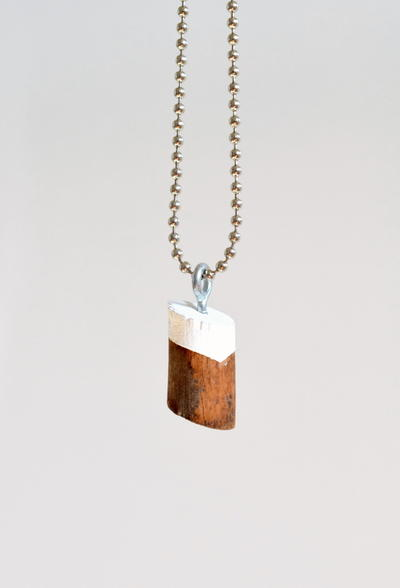 Painted Wooden Necklace Pendant