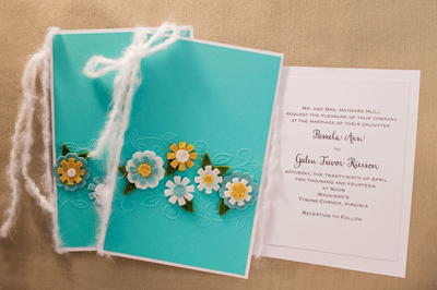 Springtime DIY Wedding Invitations and Programs