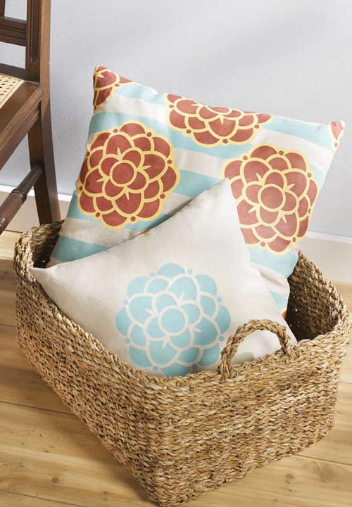 Painted DIY Throw Pillows