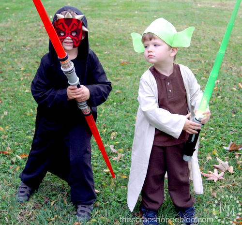 Darth Maul and Yoda DIY Costumes for Kids