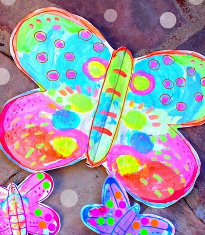 Fluttering Paper Butterfly Crafts for Kids
