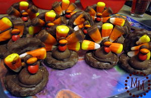Kid's Chocolate Edible Turkey Craft