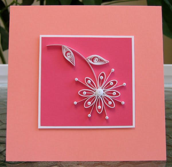 simple quilled daisy card  allfreepapercrafts