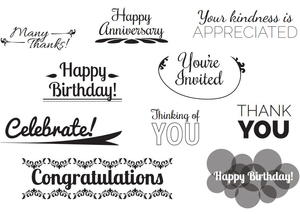 image about Free Printable Sentiments for Handmade Cards called Cost-free Printable Card Sentiments
