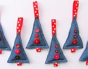 Christmas Trees In Denim Allfreechristmascrafts Com