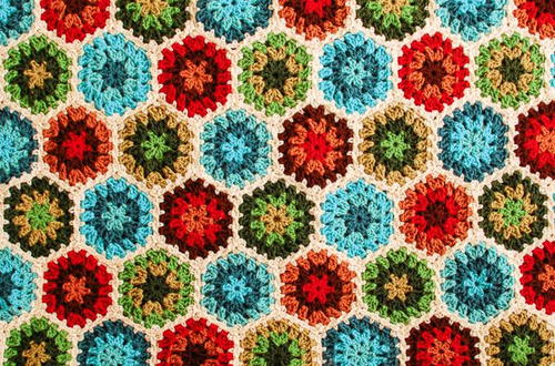 Colorburst Granny Hexagon