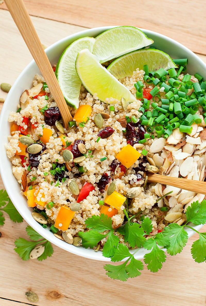 Cranberry Cilantro Quinoa Salad Favehealthyrecipes Com