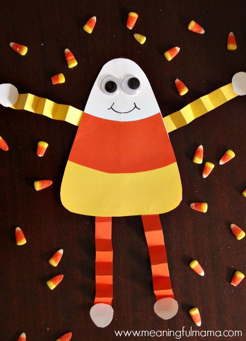 Candy Corn Man Fall Craft