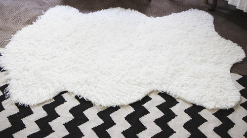 Faux Sheepskin DIY Rug