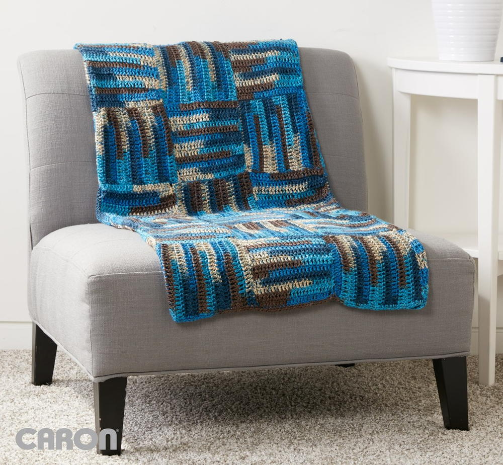 Parquet Tiles Crochet Blanket Pattern Allfreecrochet Com