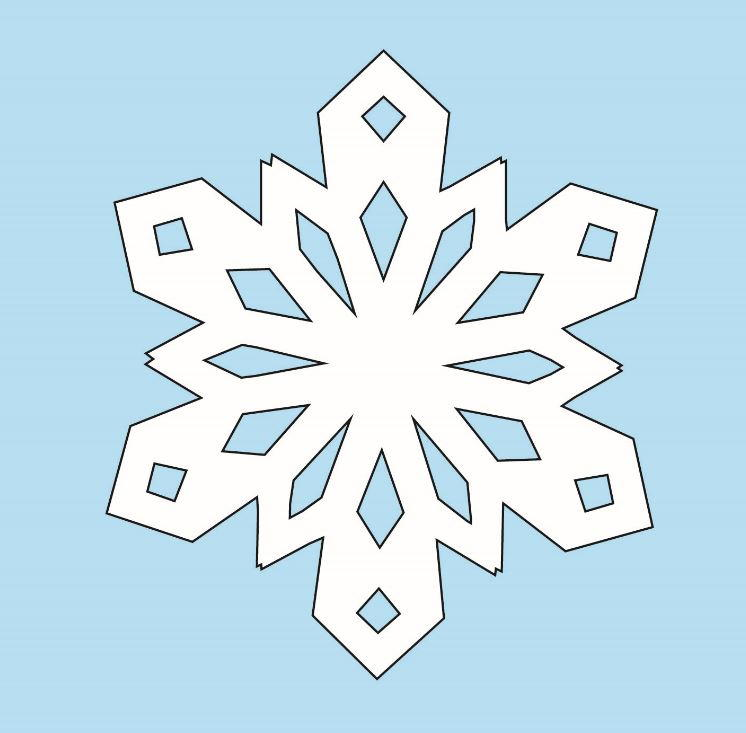 how to make cut out snowflakes