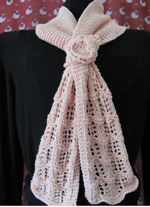 Knitting Pattern For Summer Scarf : Megan Summer Scarf AllFreeKnitting.com
