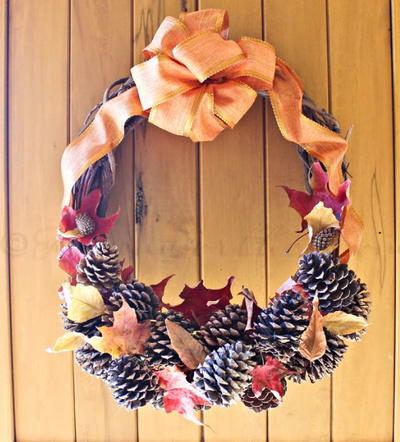 Pine Cone Wreath Fall Craft
