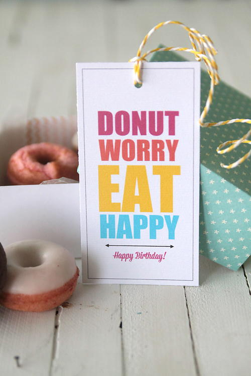 Donut DIY Gift Tags