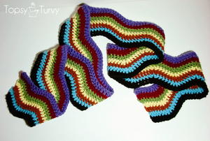 1970s Inspired Chevron Scarf
