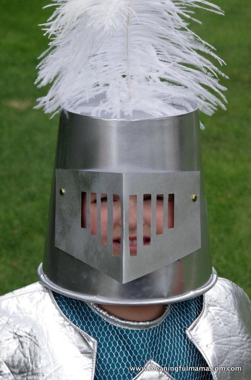 Knight Helmet DIY Halloween Costume