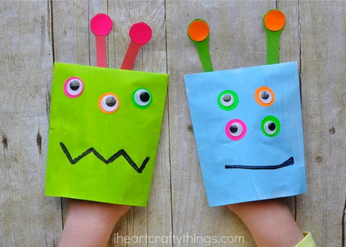 Monster Puppet Craft for Kids
