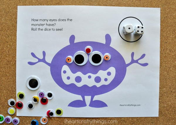 Free Printable Monster Counting Game