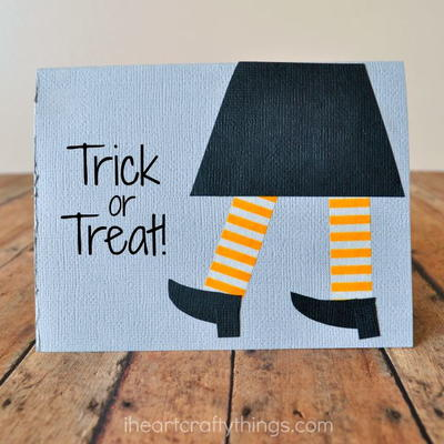 DIY Halloween Card Paper Craft for Kids