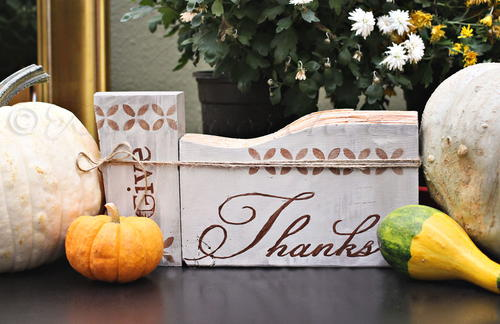 Painted Sign Thanksgiving Craft