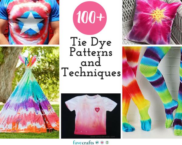 100+ Tie Dye Patterns and Techniques   FaveCrafts.com
