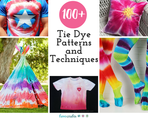 100 tie dye patterns and techniques - Technique tie and dye ...