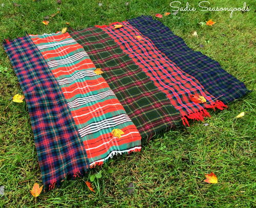 DIY Throw Blanket Fall Craft Idea