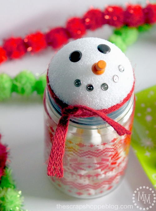 Snowman Jar DIY Christmas Gift