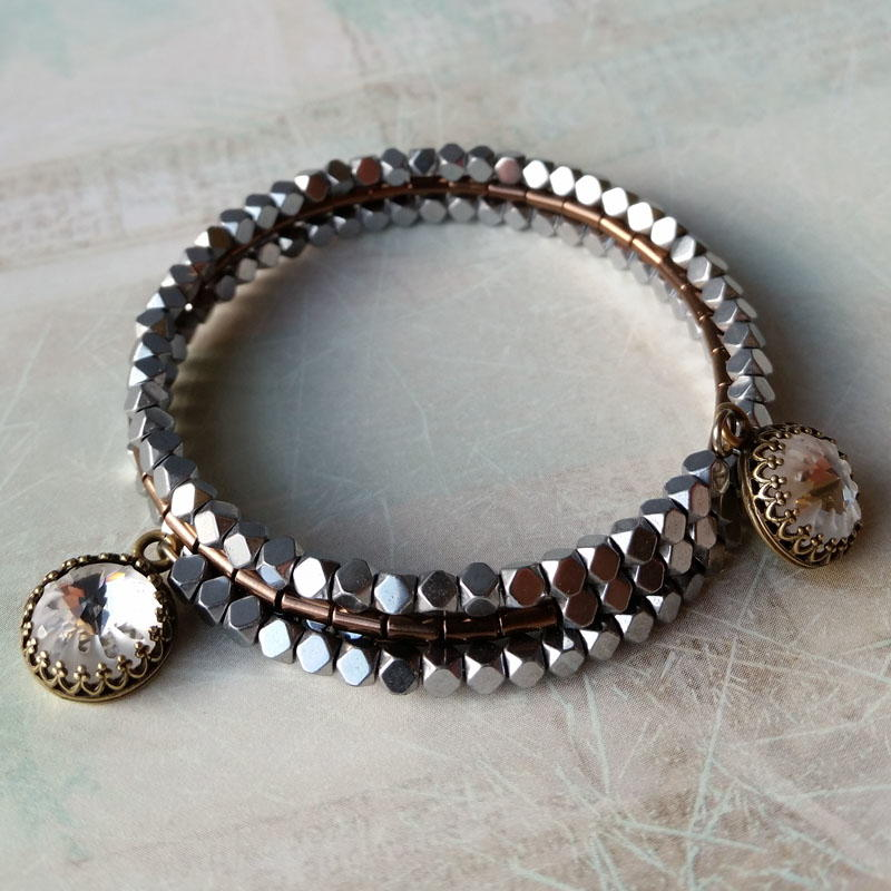 Wire Ring Beads: Sea Urchin Memory Wire Bracelet