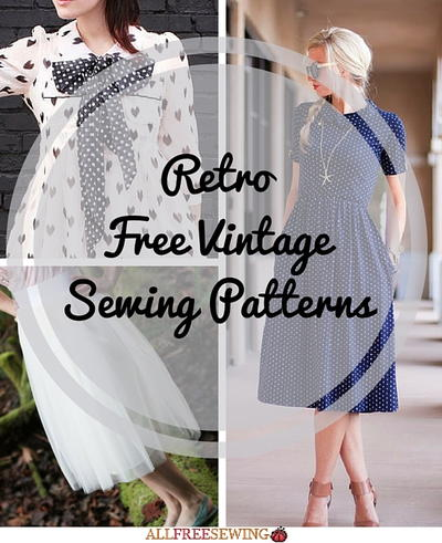 54 Retro Free Vintage Sewing Patterns Allfreesewing Com