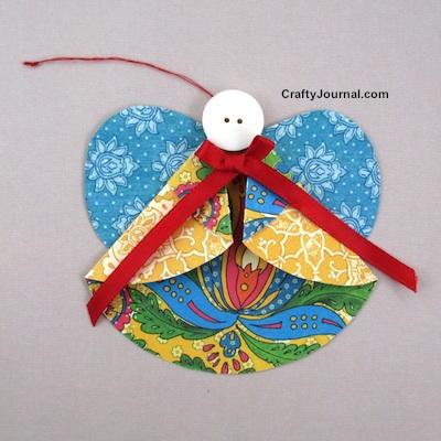Folded Paper Angel Ornament Allfreechristmascrafts Com