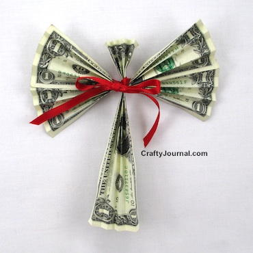 Dollar Bill Angel Craft