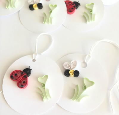 Quilled Love Bug Gift Tag Ideas