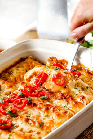 Sweet Chili Chicken Enchilada Casserole