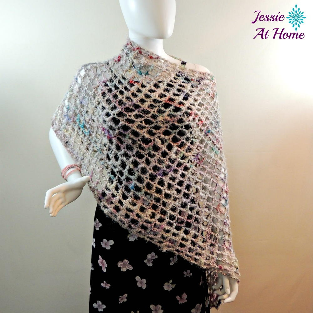 Free Crochet Pattern Mens Poncho : Phoebe Asymmetrical Poncho AllFreeCrochet.com
