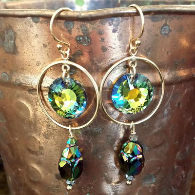 Egyptian Sunrise Crystal Earrings