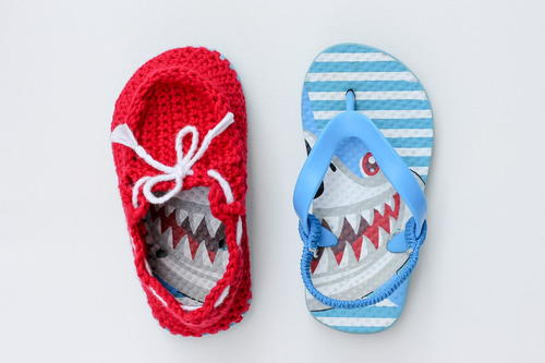 Boat Shoe Crochet Slippers