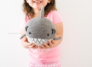 7cc6a6466b3 Hungry Shark Crochet Slippers