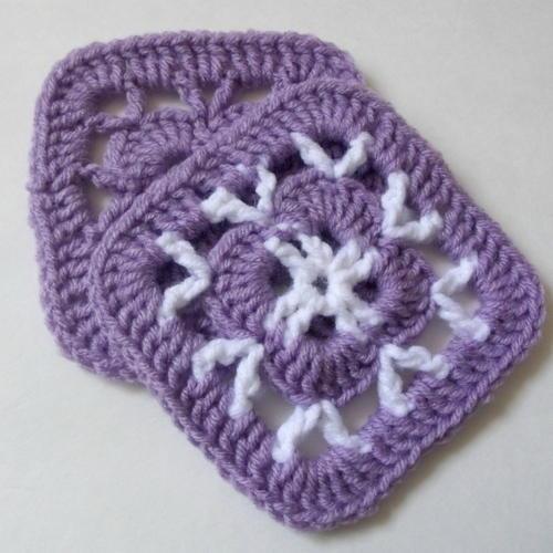 """Easy 5"""" Crochet Afghan Square"""