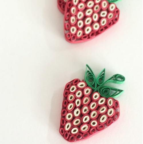 Paper Quilled Strawberries