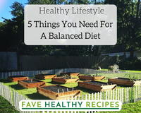 Healthy Lifestyle: 5 Things You Need For A Balanced Diet