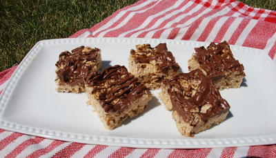 Chocolate Glazed Special K Bars