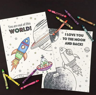 Out of This World Coloring Pages