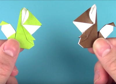 Baby Squirrel Origami Tutorial