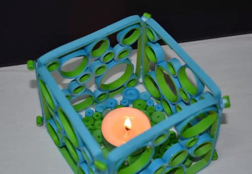 Quilled DIY Candle Holder