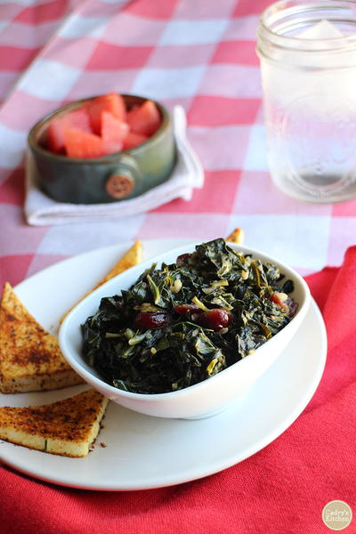 Smoky Sweet Collard Greens