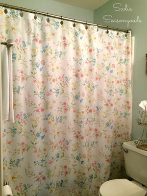 Vintage Sheet Shower Curtain