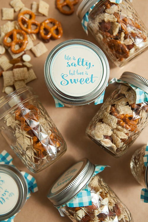 Mason Jar Trail Mix Favors