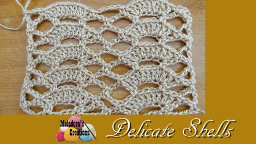 Delicate Shells Crochet Stitch